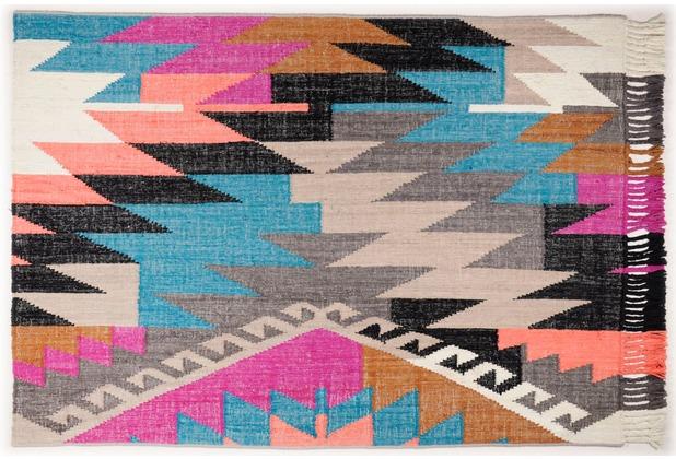 Tom Tailor Vintage-Handwebteppich Funky Kelim multi 65 cm x 135 cm