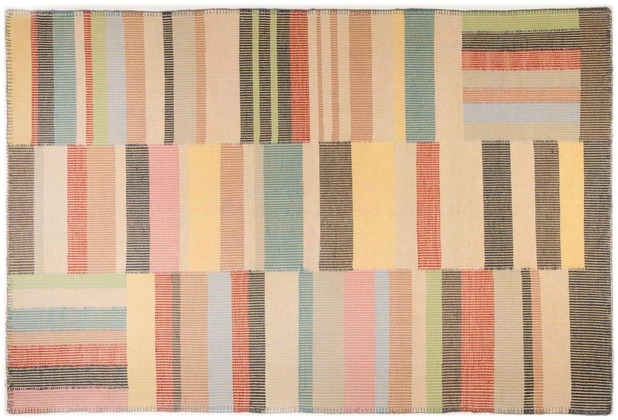 Tom Tailor Vintage-Handwebteppich Patch multi 65 cm x 135 cm