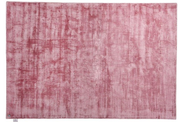 Tom Tailor Viskose-Teppich Shine, uni, 251 rose 140 cm x 200 cm