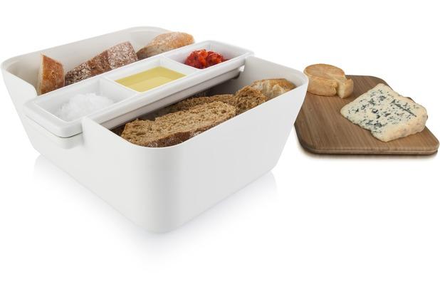 Tomorrow\'s Kitchen Bread & Dip Brot und Dips Servierschale weiß