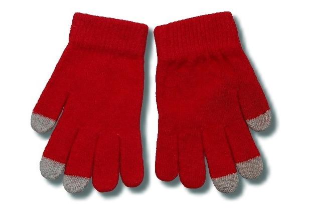 Touchscreen-Handschuhe (kapazitiv) Größe S-M, rot