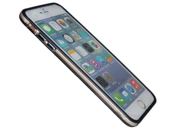 TPU Bumper/Schutzhülle - Apple iPhone 6 Plus - Schwarz Transparent