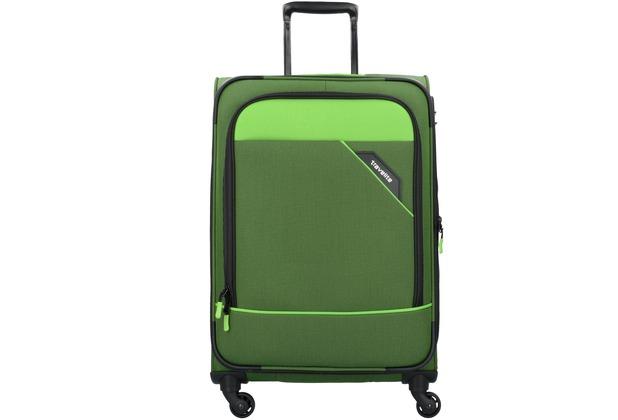 travelite Derby 4-Rollen Trolley M 66 cm grün