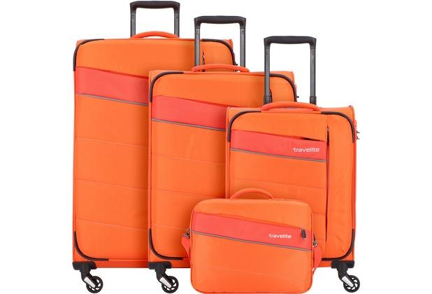 travelite Kite 4-Rollen Kofferset 4tlg. orange
