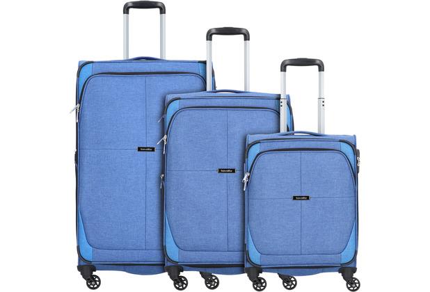 travelite Nida 4-Rollen Kofferset 3tlg. blau