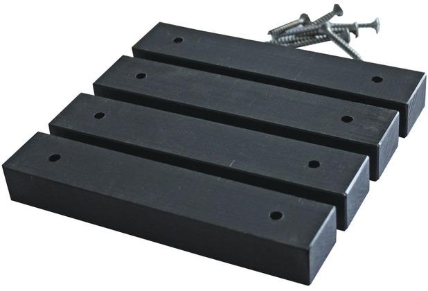 deVries PE-Gleiter für Strandkörbe schwarz