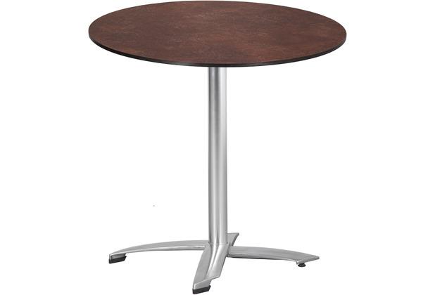 TRENDY Willington Tischplatte ø 80 cm ceramic rusty