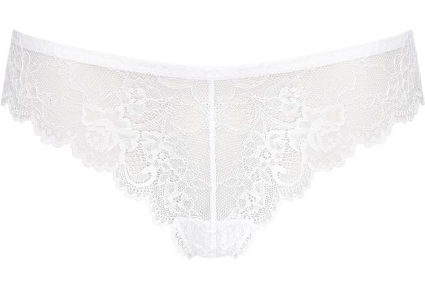 Triumph Tempting Lace Braz String WHITE L