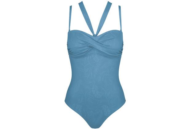 Triumph Venus Elegance Badeanzug mit gepolsterten Cups und abnehmbaren Trägern mediterranean blue 38B