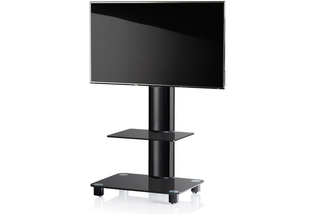 vcm tv standfu bilano schwarz schwarzglas mit. Black Bedroom Furniture Sets. Home Design Ideas