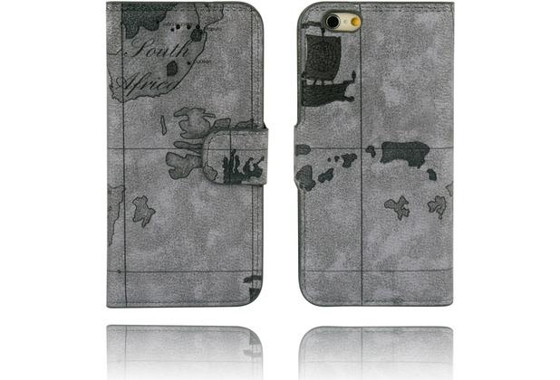 Twins Kunstleder Flip Case für iPhone 6,Atlas,flieder