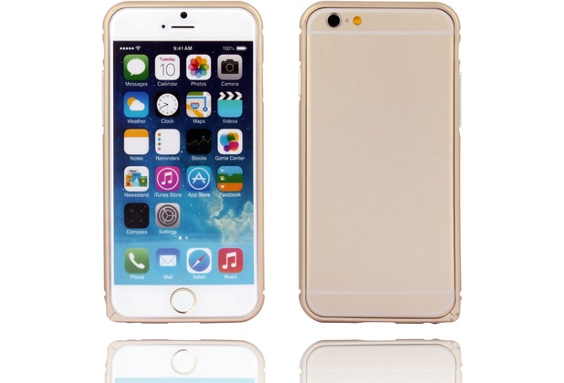 Twins Aluminium Bumper für iPhone 6 Plus, gold