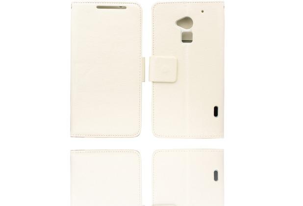 Twins BookFlip für HTC One max, weiß
