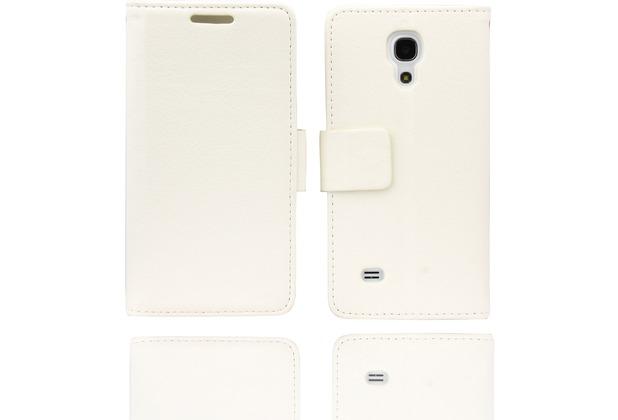 Twins BookFlip für Samsung Galaxy S4 mini, weiß