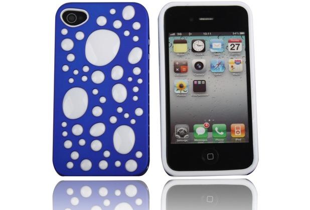 Twins Bubble Bath für iPhone 4/4S, blau-weiß
