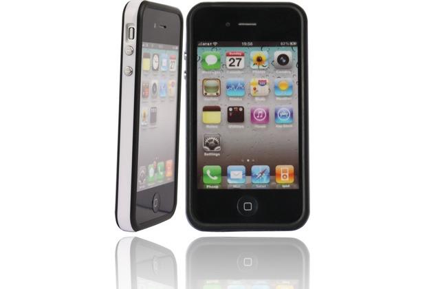 Twins 2Color Bumper für iPhone 4S, schwarz-weiß