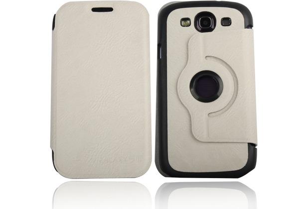 Twins Folio Stand 360 für Samsung Galaxy S3, beige-schwarz