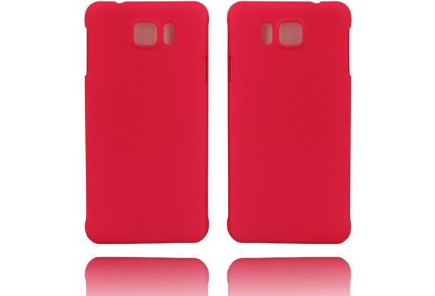 Twins Hardcase Softtouch für Galaxy Alpha,rose