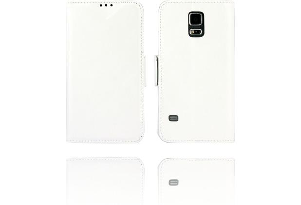Twins Kunstleder Flip Case für Galaxy S5,weiß