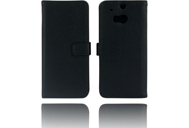 Twins Kunstleder Flip Case für HTC M8, schwarz