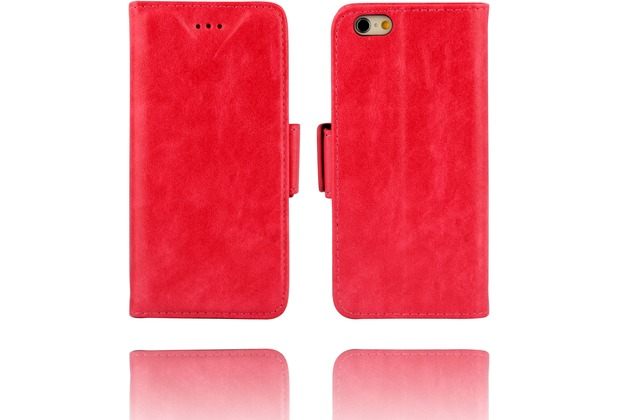 Twins Kunstleder Flip Case für iPhone 6,pink