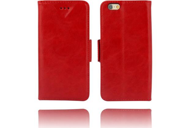 Twins Kunstleder Flip Case für iPhone 6,rot