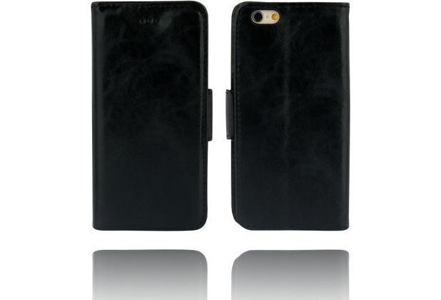 Twins Kunstleder Flip Case für iPhone 6,schwarz