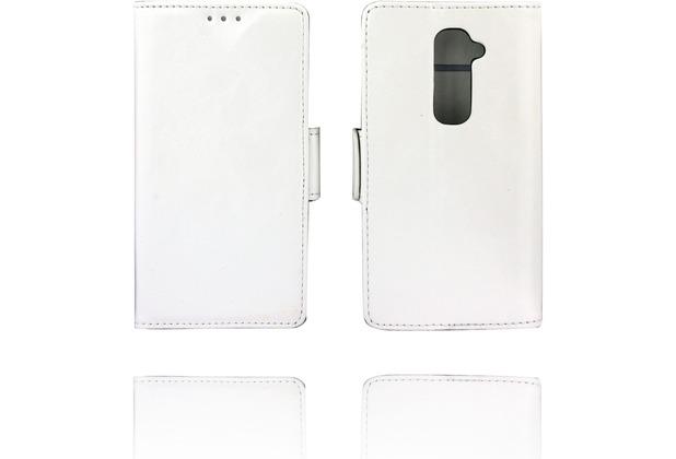 Twins Kunstleder Flip Case für LG G2,weiß