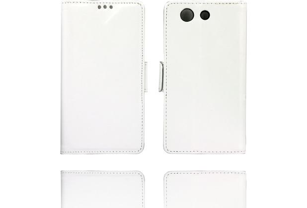 Twins Kunstleder Flip Case für Xperia Z3 Compact,weiß