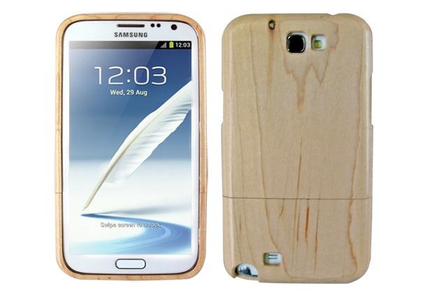 Twins Holzschutzschale Real Wood für Samsung Galaxy Note 2, hellbraun