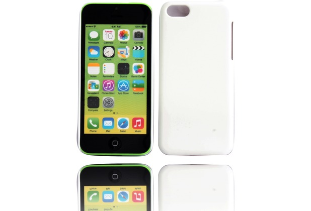 Twins Shield Matte für iPhone 5C, weiß
