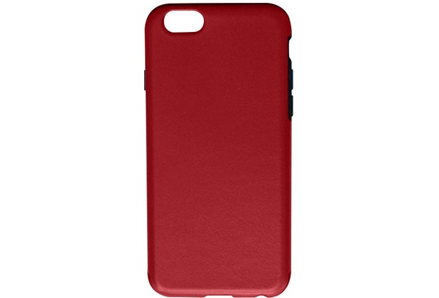 Twins Shield Matte Lederoptik für iPhone 6-Rot