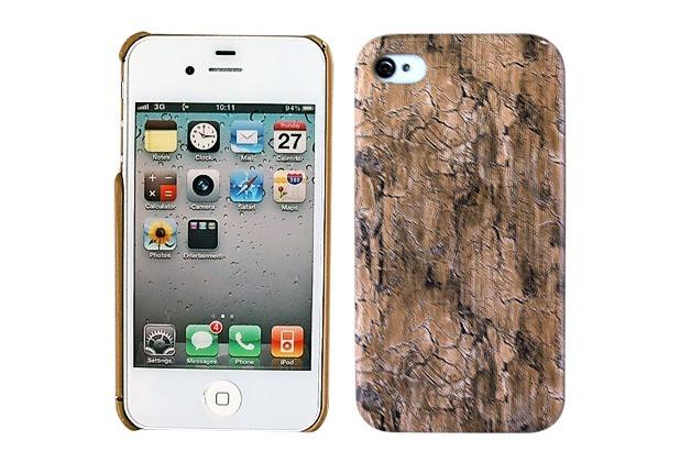 Twins Shield Wood für iPhone 4/4S, dunkelbraun