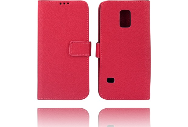 Twins Kunstleder Flip Case für Galaxy S5 Mini,rose