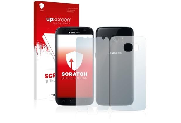 upscreen Scratch Shield Clear Premium Displayschutzfolie für Samsung Galaxy S7 Edge (Vorder + Rückseite)