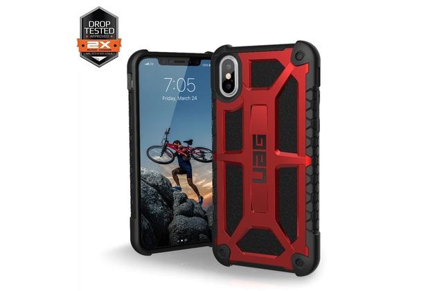 Urban Armor Gear Monarch Case, Apple iPhone X, crimson (rot)