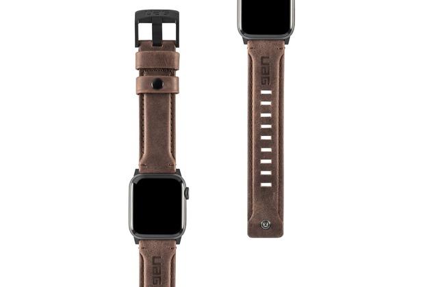 Urban Armor Gear UAG Urban Armor Gear Leather Strap, Apple Watch 38/40mm, braun, 19149B114080