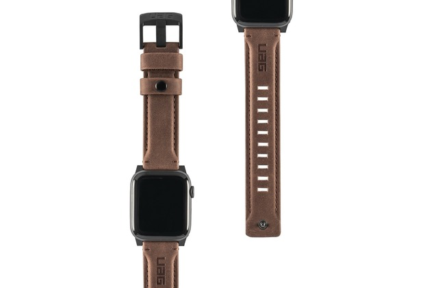 Urban Armor Gear UAG Urban Armor Gear Leather Strap, Apple Watch 42/44mm, braun, 19148B114080