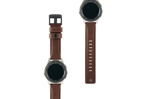 Urban Armor Gear UAG Urban Armor Gear Leather Strap, Samsung Galaxy Watch 46mm, braun, 29180B114080