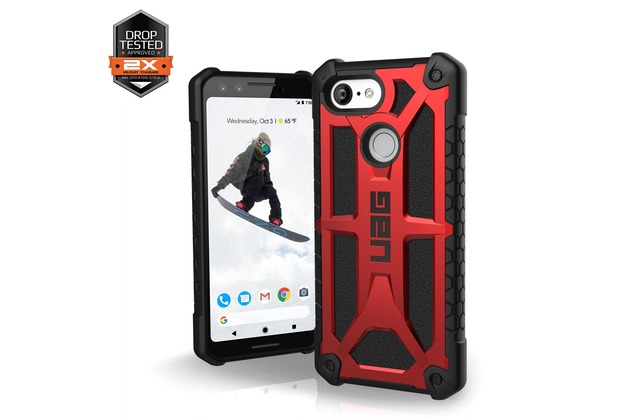 Urban Armor Gear UAG Urban Armor Gear Monarch Case, Google Pixel 3, crimson (rot), 611231119494