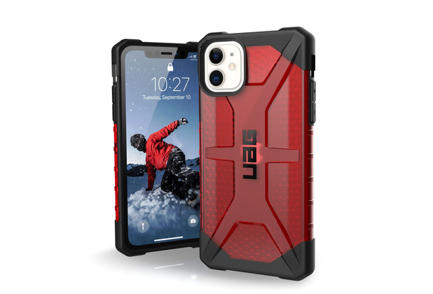 Urban Armor Gear UAG Urban Armor Gear Plasma Case, Apple iPhone 11, magma (rot transparent), 111713119393