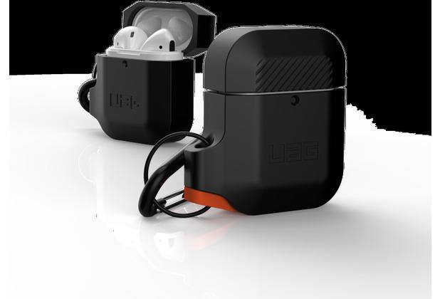 Urban Armor Gear UAG Urban Armor Gear Silicone Case, Apple AirPods (2016 & 2019), schwarz/orange, 10185E114097