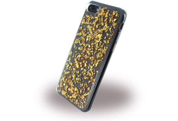 UreParts Flakes Case - Silikon Hülle - Apple iPhone 7 / 8 - Gold