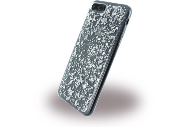 UreParts Flakes Case - Silikon Hülle - Apple iPhone 7 Plus / iPhone 8 Plus - Silber