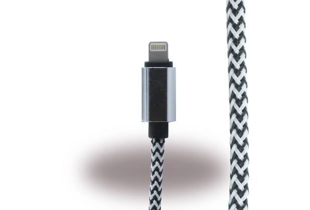 UreParts Lightning auf USB Kabel - iPhone 6, 6s, 6 Plus, 6s Plus - Schwarz/ Weiss