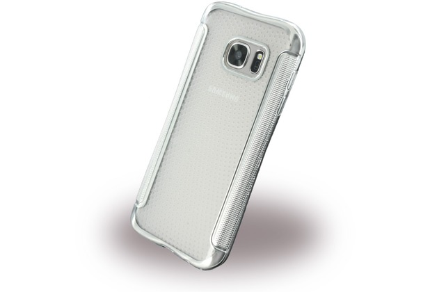 UreParts Shockproof Antirutsch - Silikon Cover für Samsung G930F Galaxy S7 - Silber