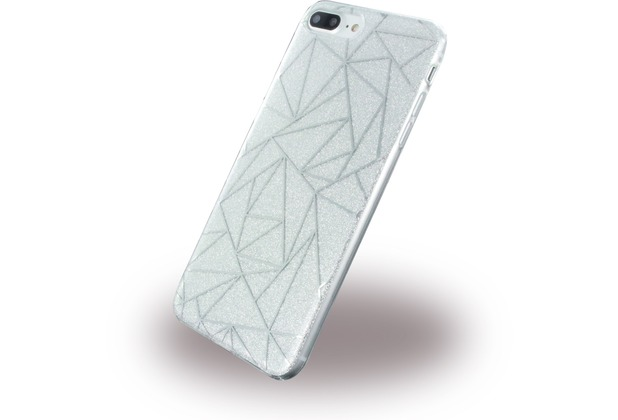 UreParts Tribal Case - Silikon Cover / Schutzhülle - Apple iPhone 7 Plus / iPhone 8 Plus - Silber