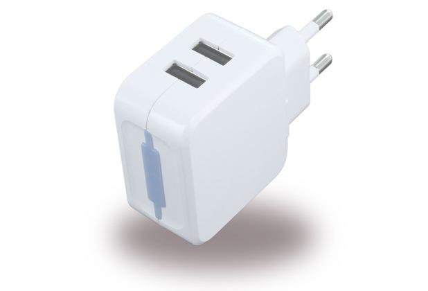 UreParts USB Netzteil / USB Charger - 1000mA/2100mA - Weiss