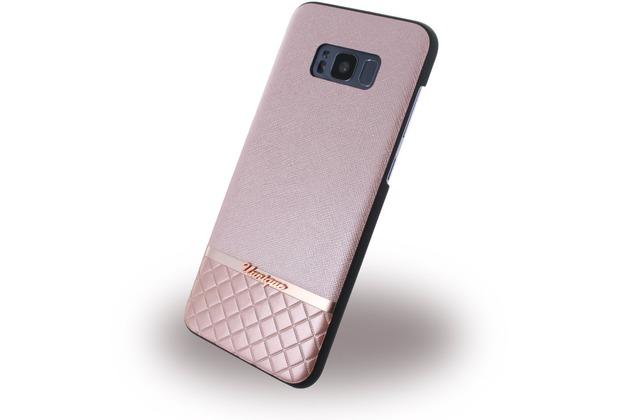Uunique Metallic Saffiano - Hardcover - Samsung G955 Galaxy S8 Plus - Rose Gold