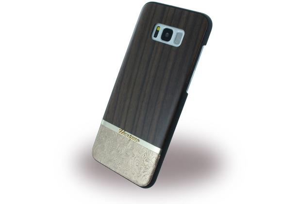 Uunique Rosewood & Gold Embossed - Hardcover - Samsung G955 Galaxy S8 Plus - Braun